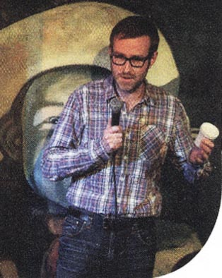 Robert Gray performing at the MRC Standup Comedy night