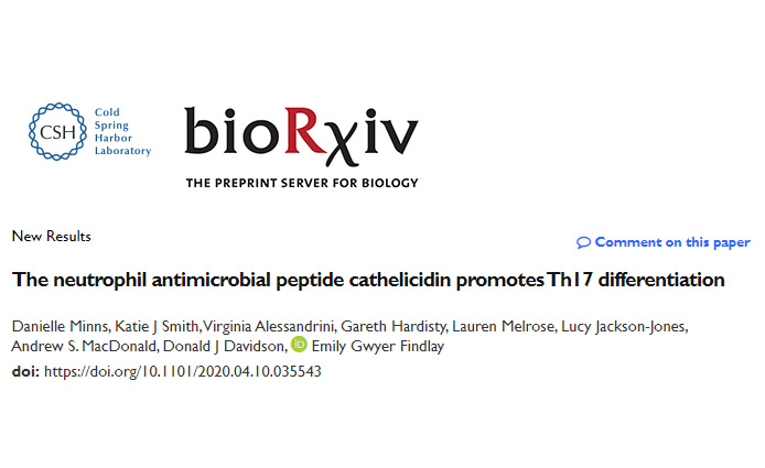 Cathelicidin and Th17 preprint out
