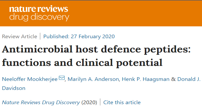 Host Defence Peptides review out