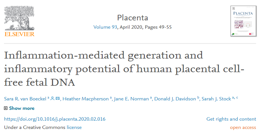 Placental inflammation paper out