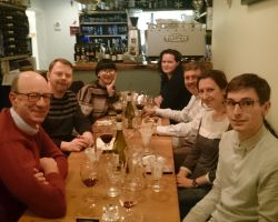 Bingjie Wang post-PhD viva dinner; 2nd Feb 2017